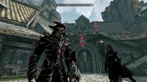 skyrim dragon armor retexture red and black dragonscale retexture m and f at skyrim