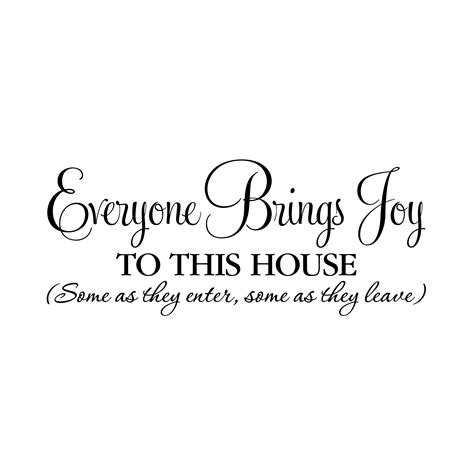 joy house everyone brings joy to this house vinyl wall decal
