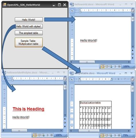 microsoft word xml format document file creation of a word 2007 document using the open xml format