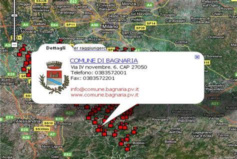 elenco comuni provincia di pavia notizie in rete mappa satellitare dei comuni della