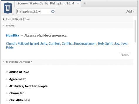 Christlikeness Sermon Outline by Building A Sermon With Logos 5 Logostalk