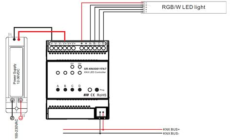 constant current rgbw knx controller sr knxfa