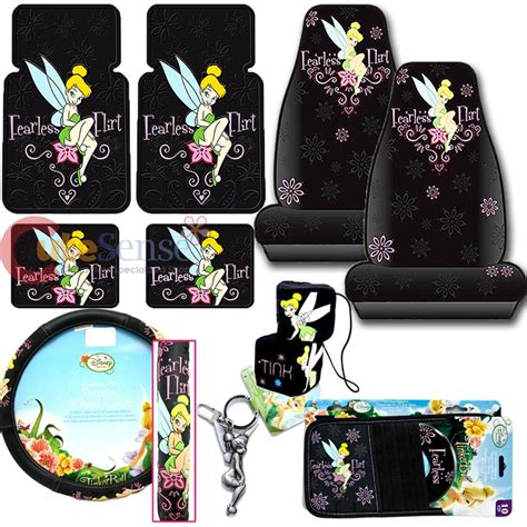 Tinkerbell Car Mats by Tinkerbell Fearless Flirt Car Seat Covers Accessories 10pc
