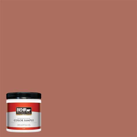 behr premium plus 8 oz ppu2 12 terra cotta urn flat interior exterior paint sle pp10316