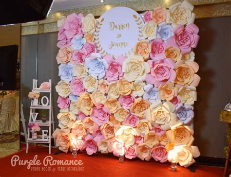 Giant Paper Flower Photo Booth Backdrop at Hee Lai Ton
