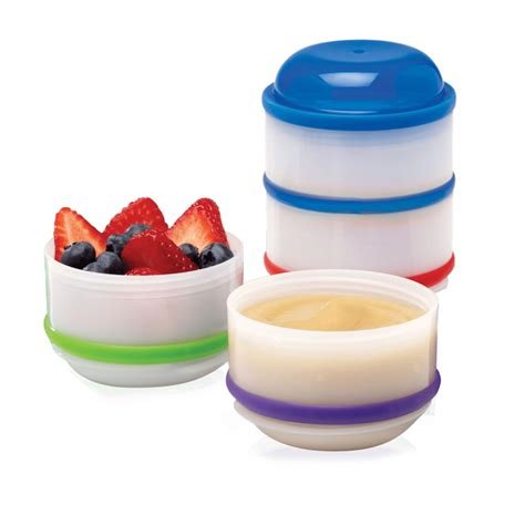 Snack A Pillar Dr Brown 4 Stackable Cups Dr Brown S Baby Snack A Pillar Stackable Snack Dipping