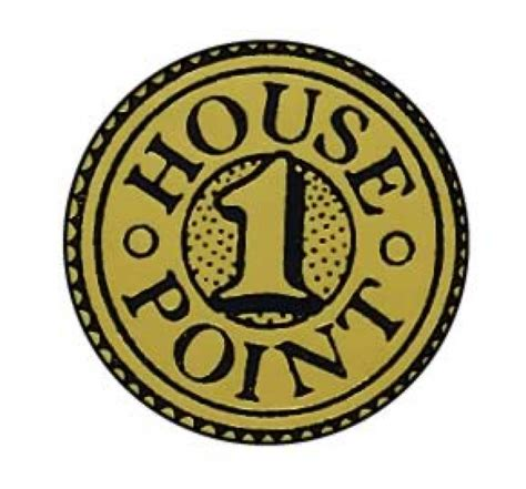 the pint house metallic 1 house point sticker 19mm school merit stickers