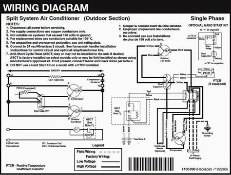 wiring diagram split air conditioner efcaviation