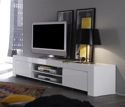 Contemporary Dining Room Table by Rimini Collection Large Tv Unit Gloss White Tv Amp Media