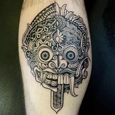 barong masker tattoo barong rangda split done by tuu at saigon ink