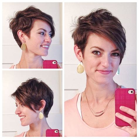 short pixie haircuts with asymmetrical bangs front and side view pinterest the world s catalog of ideas
