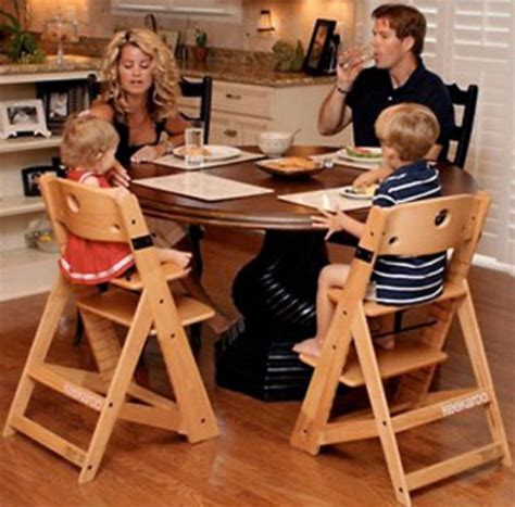 Bar Height Dining Room Sets Toddler Dining Chair With Armsthe Keekaroo Natural Height
