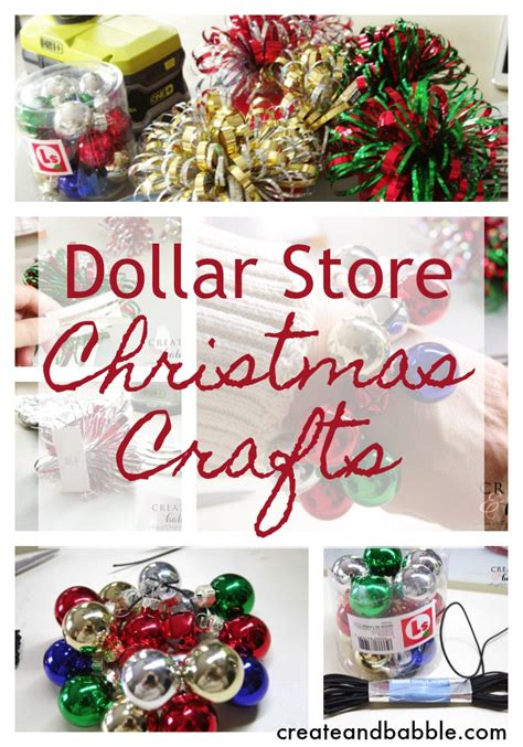 dollar store christmas crafts create and babble
