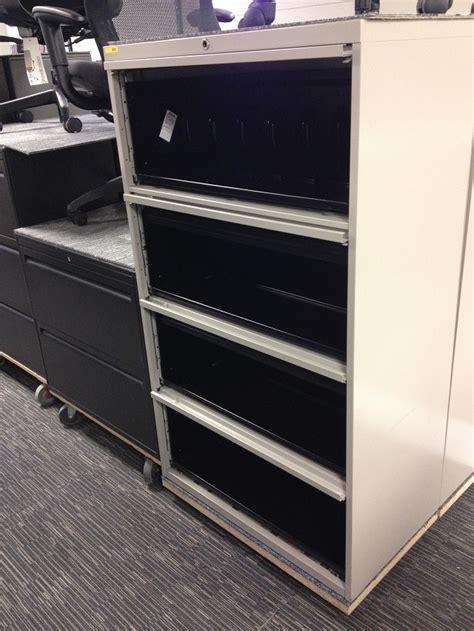 Steel Cupboard Retracting Door L35 4 drawer lateral filing cabinet steelcase beige 900 series retractable doors