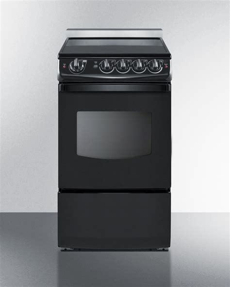 27 Inch Wide Slide In Electric Range by Summit Rex206brt 20 Inch Wide Slide In Smooth Top Electric