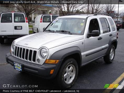 silver jeep liberty bright silver metallic 2006 jeep liberty sport 4x4