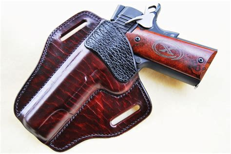 Handmade Leather Pistol Holsters - exodus gunleather custom holsters belts wallets more