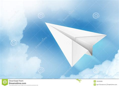 Paper Flight - paper plane royalty free stock images image 19545009