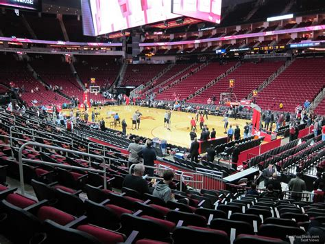 toyota center sections toyota center section 116 houston rockets