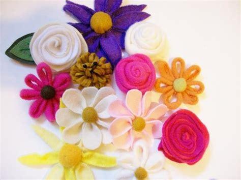 pattern for making felt flowers fleece felt flower pdf pattern by j howell craftsy