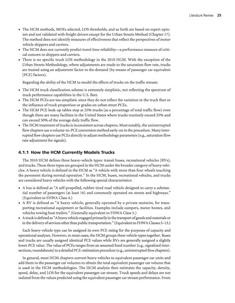 literature review sections section 4 literature review incorporating truck