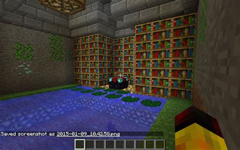 enchanting room creative mode minecraft java edition