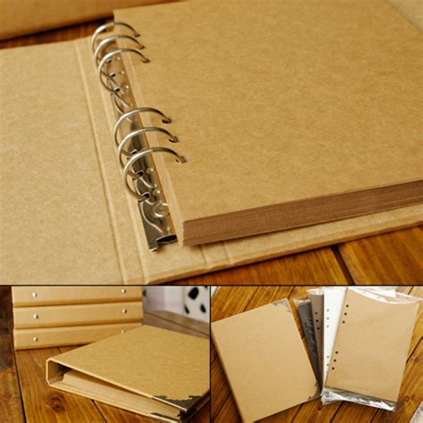 Handmade Paper Photo Albums - blank cover leaf craft paper album graffiti diary