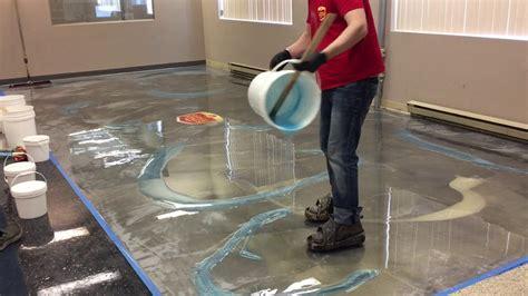 amazing metallic epoxy floor youtube
