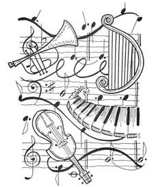 Galerry music coloring sheets for adults