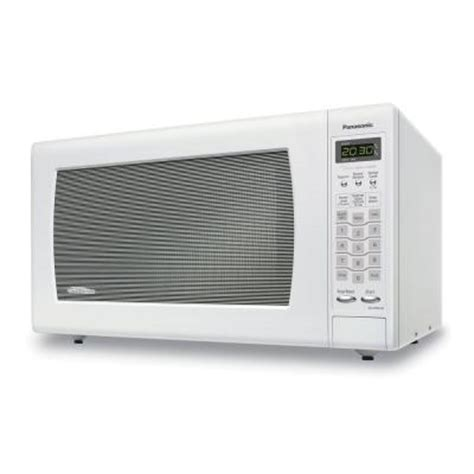 Home Depot Countertop Microwaves by Panasonic 2 2 Cu Ft Countertop Microwave In White Nn