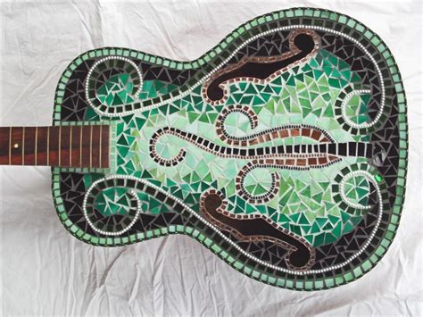 mosaic pattern evolution 39 best mosaic guitars images on pinterest mosaic