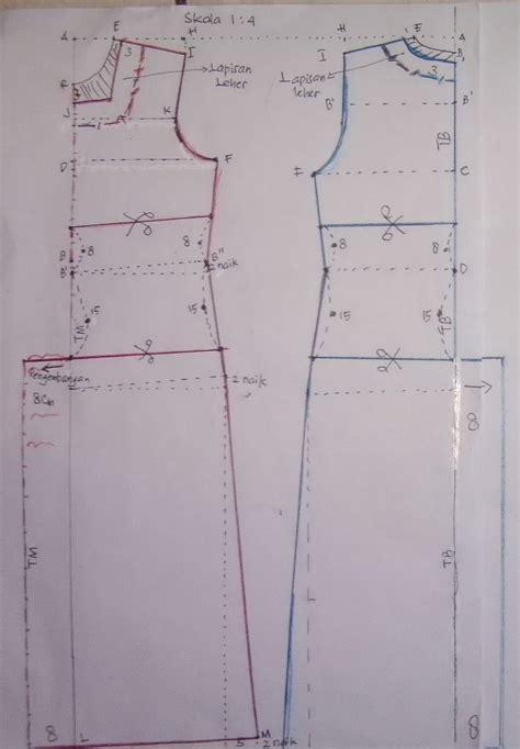Kebaya Pendek Am 72 cara mudah membuat pola gaun oleh icha nors kompasiana