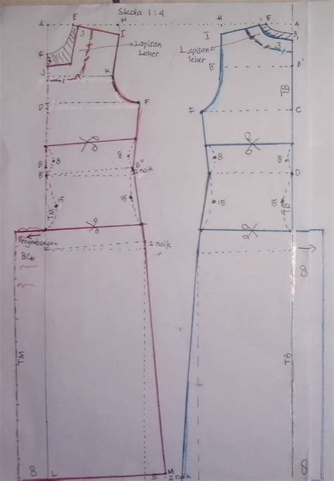 cara membuat pola baju jubah moden cara membuat pola baju