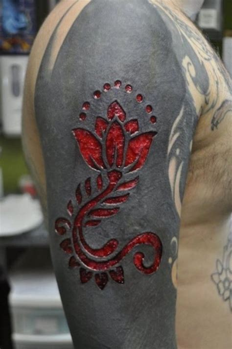 scarification tattoo 11 scarification tattoos on sleeve