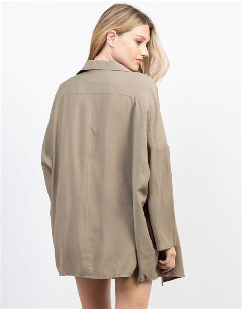 Flowy Jacket 1 flowy buttoned trench jacket drapey anorak jacket 2020ave