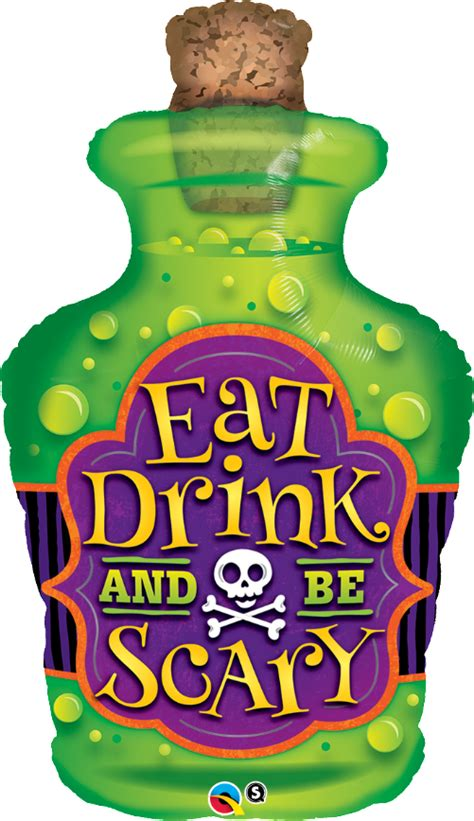 halloween drinks clipart large halloween balloons eat drink be scary free