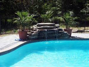 inground pool with waterfall inground pool waterfalls pool pinterest