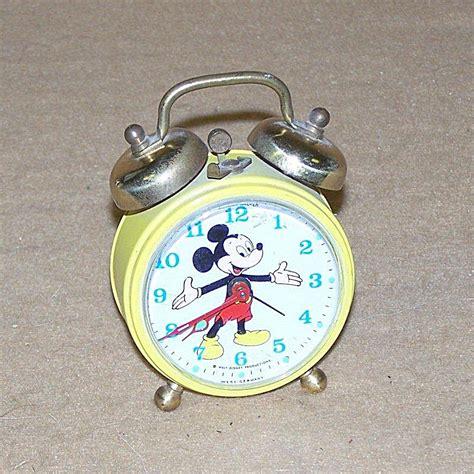 vintage mickey mouse bell alarm clock 2766 alarm clocks at daryls clocks galore