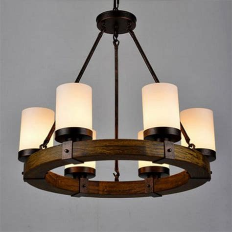 LightInTheBox Vintage Old Wood Wooden Chandeliers Painting Finish Country Rustic Pendant Uplight