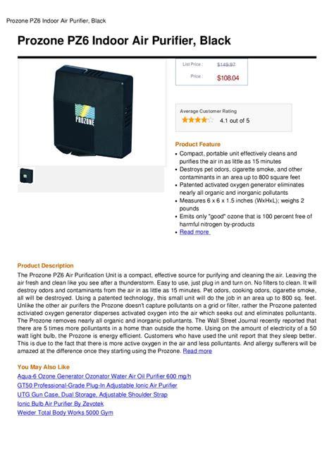 prozone pz6 indoor air purifier black by ronert avaza issuu