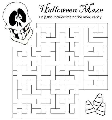 halloween maze printable easy halloween maze lots more printables on makingfriends com
