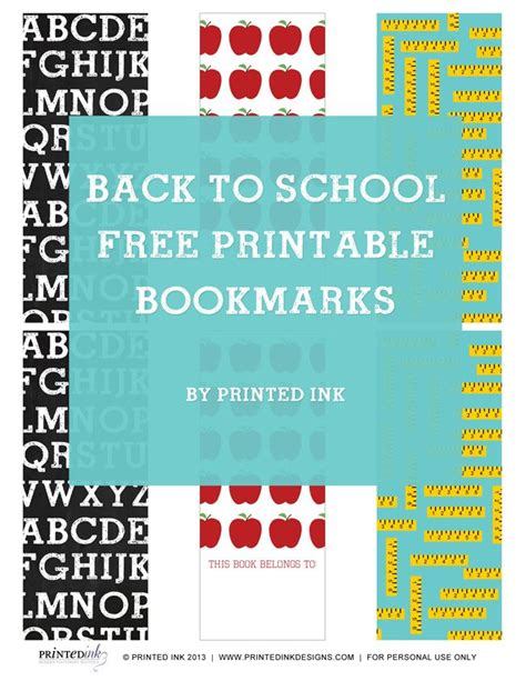 printable school bookmarks 6 best images of back to school printable bookmarks back