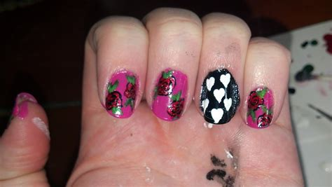 easy nail art roses the nail diaries easy rose nail art design everything s