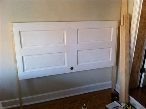 How To Build A Headboard And Footboard by Opportunity Knocks Transforming An Door Into A