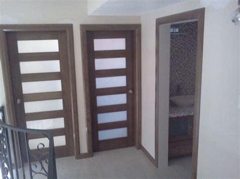 foto puertas de madera  vidrio arenado de proycon