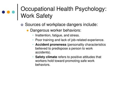 Occupational Health Psychology ppt human factors and occupational health psychology