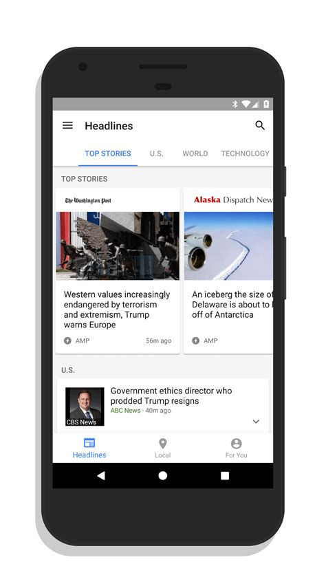 layout navigation android google news weather for android gets improved layout