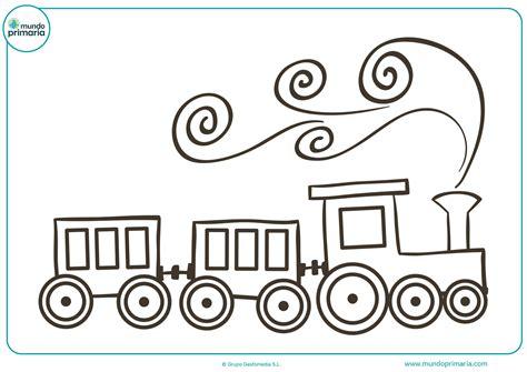 imagenes para colorear un tren dibujos de trenes para colorear mundo primaria