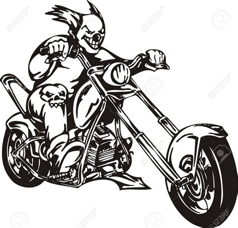 Motorrad Chopper Zeichnung by Motorcycle Clipart Chopper Pencil And In Color