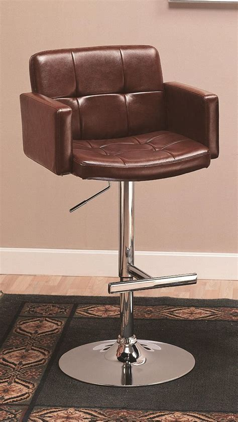 leather bar stools with backs and arms amazon com coaster adjustable bar stool with arms in